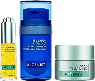 Algenist C Spots Go Mini Facial Trio Kit - 3-Piece Mini Skincare Set - Blue Algae Vitamin C (12ml), GENIUS Liquid Collagen...
