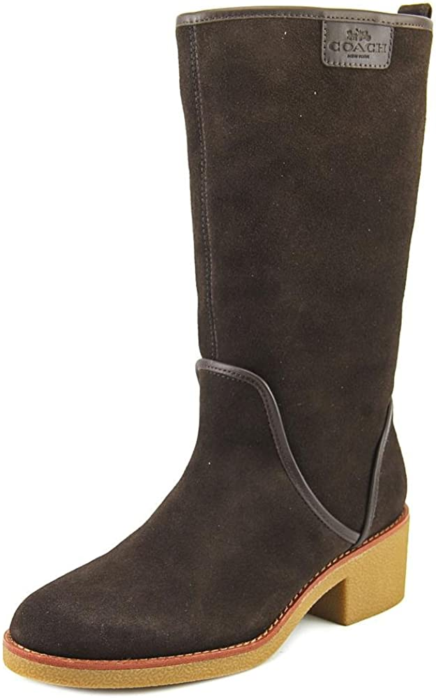 COACH Palmer Winter Boots Chestnut SEAL limited product Suede M 8 New life