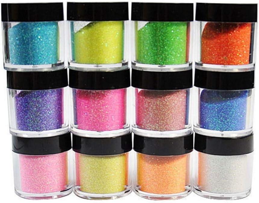 Gabcus OFFicial shop 12 Colors Pro Shiny Glitter Art Nail Powder Limited time cheap sale Acrylic Dust