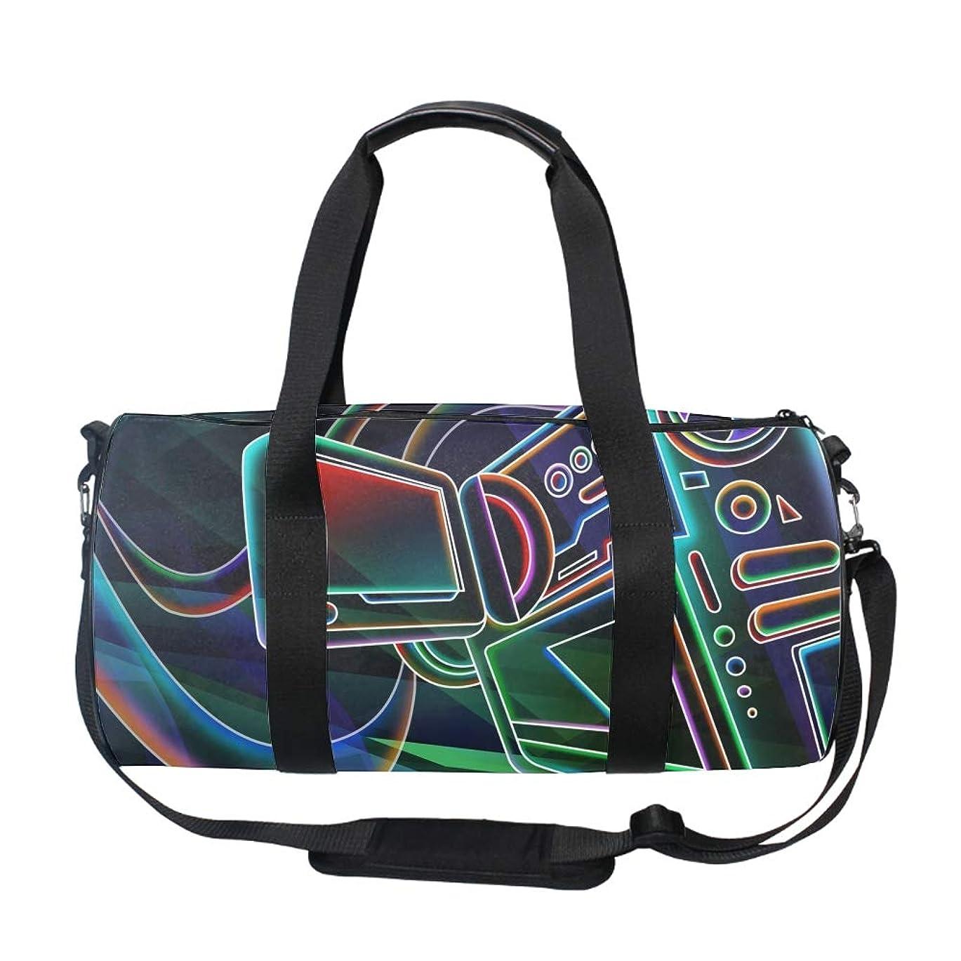 持つぺディカブくドラムバッグ 筒型 ボストンバッグ ダッフルバッグ 旅行かばん 3Dパターン