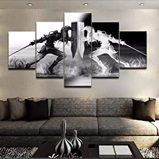 HIOJDWA Paintings Modular Wall Art Pictures Home Decor 5 Pieces Legend of Zelda Canvas Painting Living Room Printed Cartoon Game Poster Framework