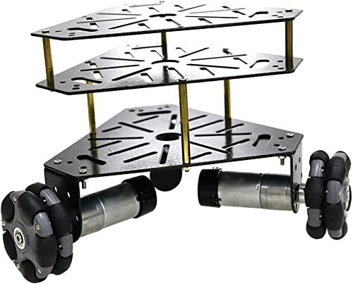 Homyl Chassis De Voiture Robot à Trois Roues 3WD Omni 12V Moteur + Capteur 58mm