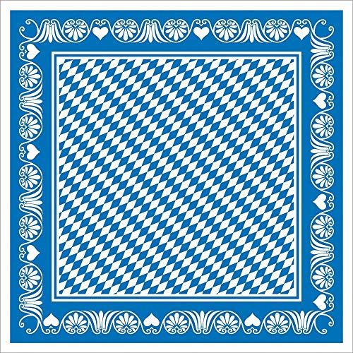 Vlag HORECA Oktoberfest-deco tafelkleed | Bavaria ruiten blauw | 80x80 cm 20 stuks | Linclass® Airlaid | Wiesn feesttent Beiers