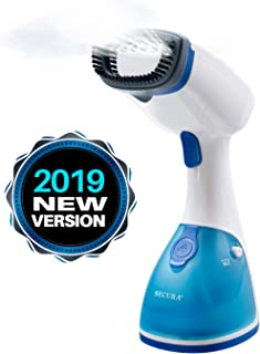 Secura Instant-Steam Handheld Garment and Fabric Steamer with Stainless Steel Soleplate and Accessories, 1000-Watt 360° Rotating Non-Bind Cord (2-Year Warranty)