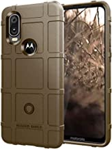Nice Full Coverage Shockproof TPU Case for Motorola P40 / Moto One Vision(Army Green) LUxx (Color : Brown)