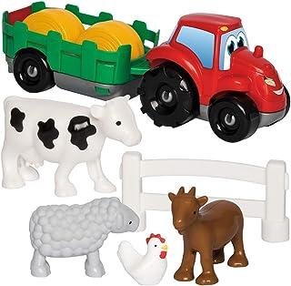 Jouets Ecoiffier -3348 - Coffret voiture + animaux de la ferme Abrick – Jeu de construction pour enfants – Dès 18 mois – F...