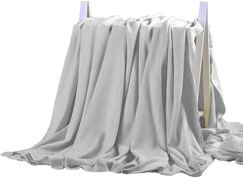 DANGTOP Bamboo Blanket All Seasons Thin Cooling Blanket For Adults And Teens 79x91 Inches Light Grey