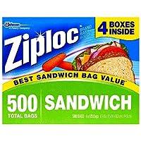 ZIPLOC SANDWICH ジップロック サンドイッチ用  500枚入り (125枚×4)