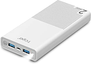Fast Charging Power Bank 20000mah - Portable Charger Quick Charger 3.0 Powerbank External Backup Battery Packs for Smart Cell Phone iPhone iPad MacBook Android Samsung,Google Pixel 2 White