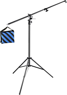 Neewer Photo Studio 13 feet/3.9 meters 2-in-1 Light Stand with 74.8-inch Boom Arm and Blue Sandbag for Supporting Softbox ...