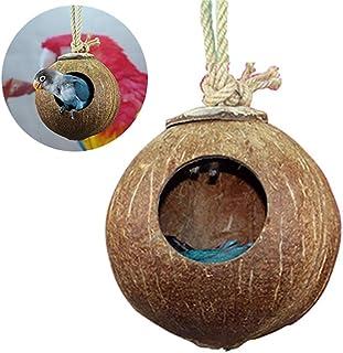 1 Pc Bird jerarquía del Animal doméstico Natural de Coco Casa de pájaros del Parakeet de cría de Aves Nido pajarera Jaula ...
