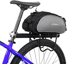 Lixada Bicycle Rack Bag 13L Waterproof Cycling Bike Rear Seat Cargo Bag MTB Road Bike Rack Carrier Trunk Bag Pannier Handbag