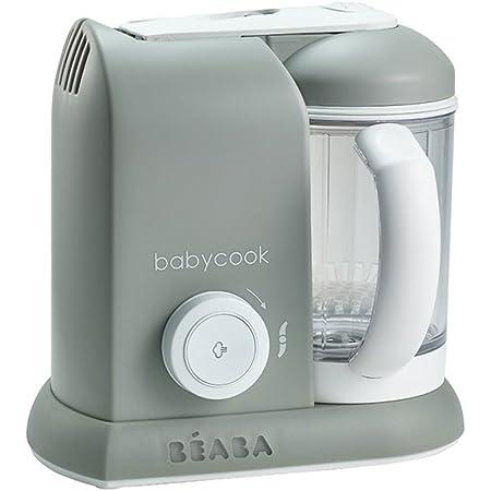Mixen Babymoov Nutribaby Plus industrial grey 2200ml Fassungsverm/ögen Sterilisieren Babynahrungszubereiter schonendes Dampfgaren Aufw/ärmen