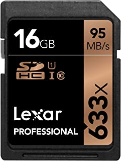 Lexar Professional 633x 16GB SDHC UHS-I/U1 Card (Up to 95MB/s Read) w/Image Rescue 5 Software - LSD16GCBNL633