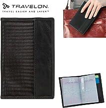 TRAVELON Passport Case Wallet with RFID ID Lock Men Women Travel Organizer Black