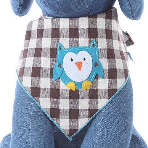 Tail Trends Dog Bandanas for Every Dog Occasion with Owl Design in Summer Spring Nature Handmade Appliques - 100% Cotton