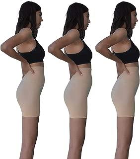 Sexy Basics 3 Pack Hi Waist Tummy Control Slimming Workout Non See-Through Bike Shorts