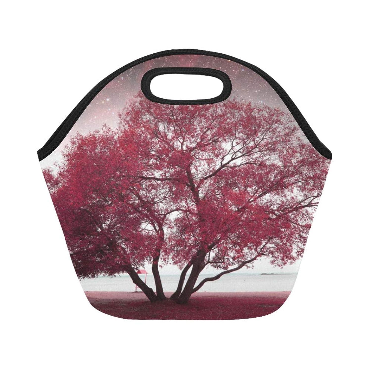 不公平磁石白いTELSG ランチバッグ 美しい風景 もみじの森 弁当袋 お弁当入れ 保温保冷 トート 弁当バッグ 大容量 トートバッグ