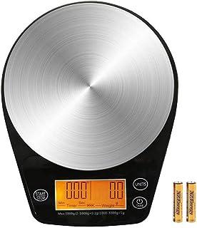 Báscula electrónica, Báscula de café de alta precisión 0.1 Con función de sincronización USB Escala de cocina de medición de temperatura recargable