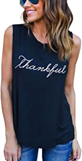 Imagine Sexy Casual Letter Printed T-Shirt Thankful Short/Long Sleeve Shirts Tank Top Vest Tee Tops