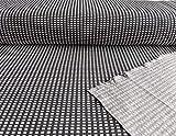 Jacquard Strickstoff, Schwarz Weiß grafisches Muster, als