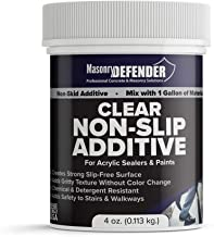 Clear Anti Slip Paint Additive Floor Grip for Acrylic Sealers & Paints, 4 oz. for 1 Gallon - Non Skid Paint Additive Creates Strong Slip Resistant Surface & Adds Gritty Texture Without Color Change