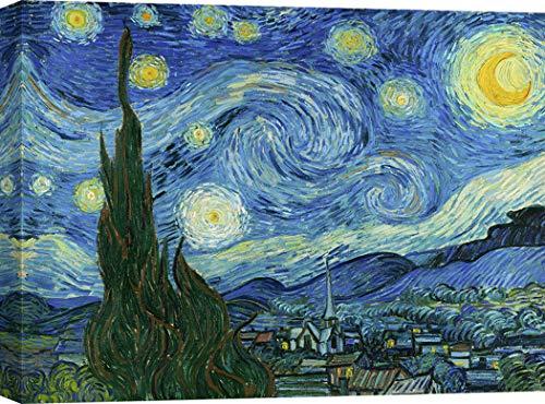 Art Print Cafe – Cuadro – Impresion sobre Lienzo - Vincent Van Gogh, La Noche Estrellada – 120x90 cm