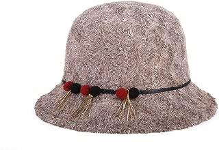 ZiWen Lu Women's Knitted Plush Hat Fashion Hat Cap (Color : Brown, Size : 57cm)
