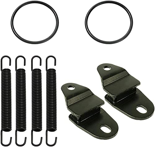 2021 Exhaust Muffler Pipe Stay Mount with Springs and O-Ring Kit, Pipe Crack Prevention outlet online sale Hanger, Compatible with Yamaha 1987-2006 Banshee 350 YFZ350 discount (Mounts w/Springs & O-Rings) online sale