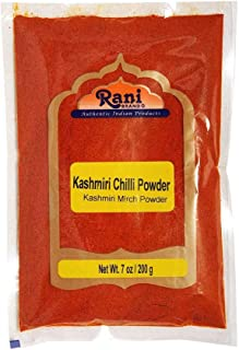 Rani Kashmiri Chilli Powder (Deggi Mirch, Low Heat) Ground Indian Spice 7oz (200g) ~ All Natural, Salt-Free | Vegan | No Colors | Gluten Friendly Ingredients | NON-GMO | Indian Origin