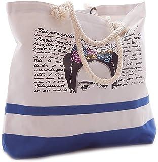 Bolsa de Playa Diseño Frida Azul