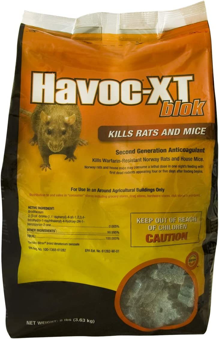 Free shipping New Neogen 00595 Havoc XT Rat Bait Block 8 Pouch Pound Some reservation Pack 1 of