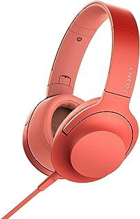 ソニー ヘッドホン h.ear on 2 MDR-H600A : ハイレゾ対応 密閉型 リモコン・マイク付き 2017年モデル 360 Reality Audio認定モデル トワイライトレッド MDR-H600A R