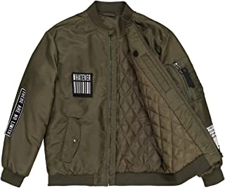 La Redoute Collections Boys Bomber Jacket With Patches, 10-16 Years