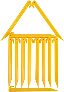 MUDOR 12 Inch Plastic Tent Stakes -12 pcs Heavy Duty and Durable Tent Pegs Spike Hook for Campings Outdoor Sand Beach, Stu...