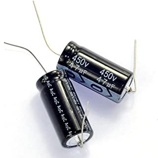 Cary 5pcs 450v 47uf 105c Long Copper Leads Axial Electrolytic Capacitor Audio Amps