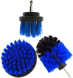 DAYONG 3PCS Nylon Power Brush Tile and Grout Bathroom Cleaning Scrub Brush Kit for Grout, Floor, Bathroom Tile, Kitchen, O...