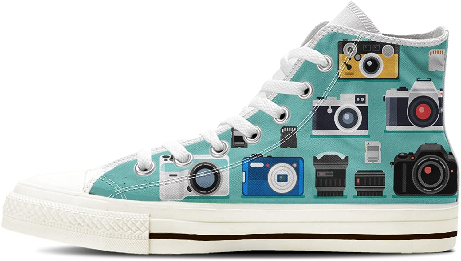 Gnarly Tees Women's Photography Camera shoes High Top