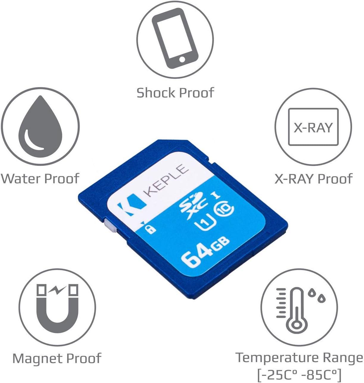 64GB SD Card Class 10 High Speed Memory Card Compatible with Panasonic Lumix DMC-FZ1000, DMC-FZ72, DMC-FZ330, DMC-FZ200, DMC-FH6, DMC-FH8, DMC-TZ70, DMC-TZ57, DMC-TZ40 Camera | UHS-1 U1 SDXC 64 GB