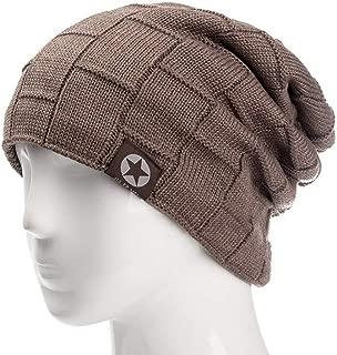 Unisex Fleece Lined Beanie Hat Knit Wool Warm Winter Hat Thick Soft Stretch Hat for Men and Women Fashion Skullies & Beanie