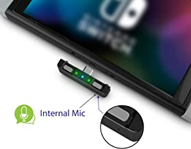 HomeSpot Bluetooth 5.0 Audio Transmitter Adapter with Built-in Digital Mic & USB C Connector APTX Low Latency for Nintendo Switch Compatible with AirPods PS4 Bose Sony [Enhanced Version]