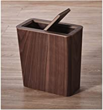 Recycling Bin Wood Trash Can Wastebasket Kitchen Rubbish Bin Garbage Container Bin for Bathrooms Home Restaurant Offices R...