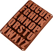BESTONZON 26 Uppercase Silicone Mold English Letters Alphabet 3D Chocolate Muffin Candy Cake Cupcake Fondant Mold
