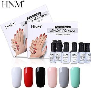 HNM 6 pcs/lot 8ml Gel Nail Polish Set UV Semi Permanent Gelpolish Paint Nail Art GelLak Varnish Esmalte Lacquer r Nail Kit Color 001