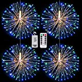Fairy String Lights Christmas Lights,120 LED 8 Modes Dimmable String Fairy Lights with Remote Control,Waterproof Copper Wire Decorative Hanging Starburst Lights for Christmas Decoration(Multicolor)