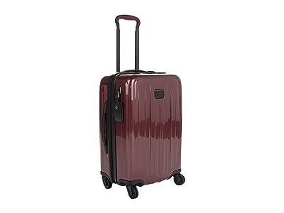 Tumi V4 International Expandable 4 Wheeled Carry-On (Cordovan) Luggage