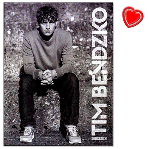 Tim Bendzko Songbuch für Klavier, Gesang, Gitarre - große Auswahl an Bildmaterial und persönliche Kommentare zu den Songs und zu ihrer Spielweise - Notenbuch mit bunter herzförmiger Notenklammer