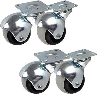 Balzwenkwielen Bewegende zwenkwielen, roterende wielen voor meubels, TPR-trolleywielen, 360 graden draaiende kogelwielen m...