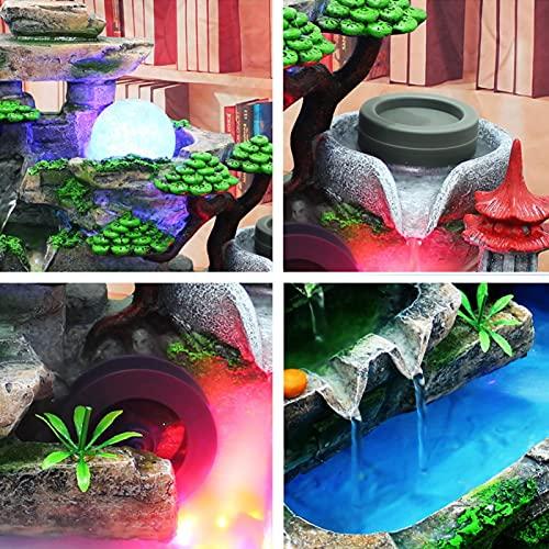Pokerty9 Decoración de jardín, Resina sintética de Fuente de Escritorio con Efecto de atomización para Sala de Estar para Oficina(Pink)