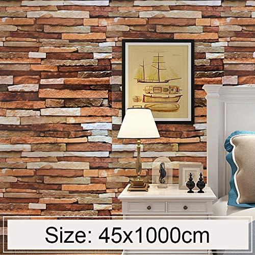 Wandsticker Colorful Shale Originative 3D Pit Brick Dekoration Wandaufkleber Schlafzimmer Wohnzimmer Wände Wasserdicht Wallpaper Roll